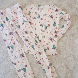 Baby Gap 5t girls Christmas pajamas